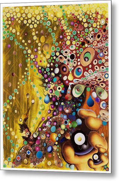 Color Intoxication Remix Metal Print