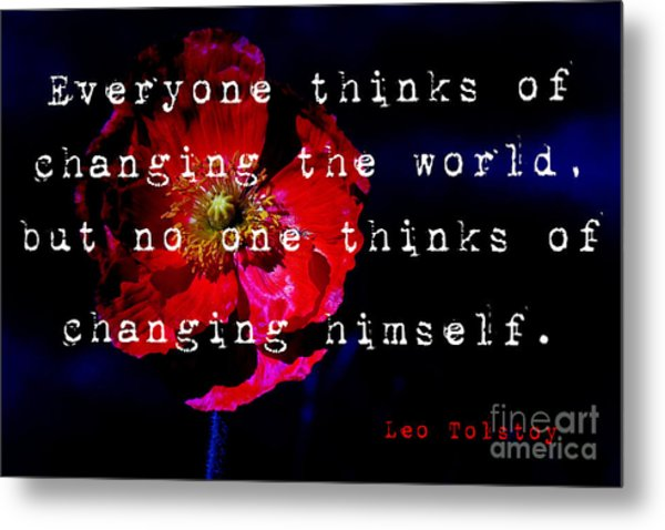 Changing The World Metal Print