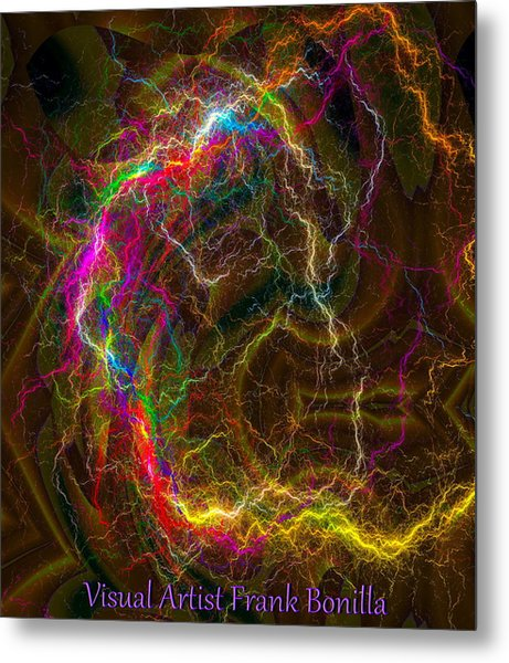 Color Lightning Metal Print