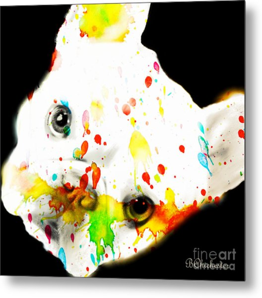 Color Me Frenchie Metal Print