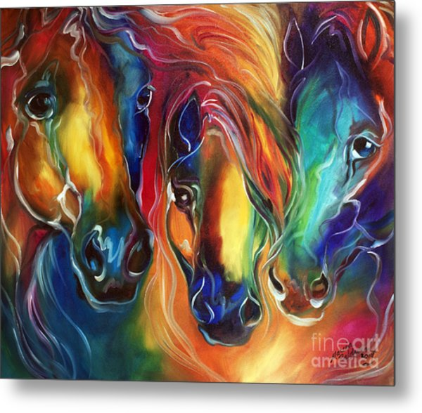 Color My World With Horses Metal Print