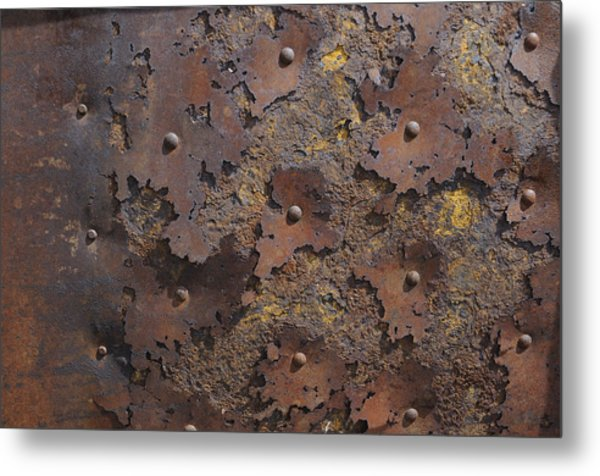 Color Of Steel 2 Metal Print