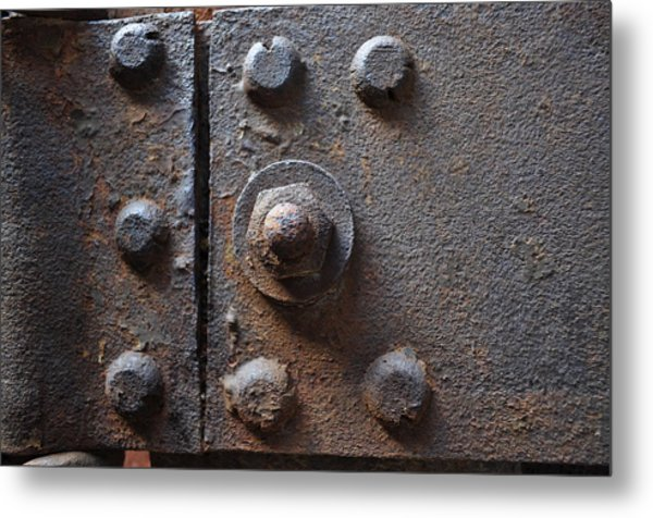 Color Of Steel 3 Metal Print