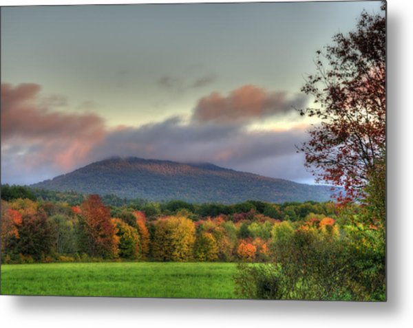 Color On Crotched Mountain - Nh Metal Print by Joann Vitali