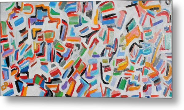 Color Order Oil On Canvas 24 X 48 Metal Print