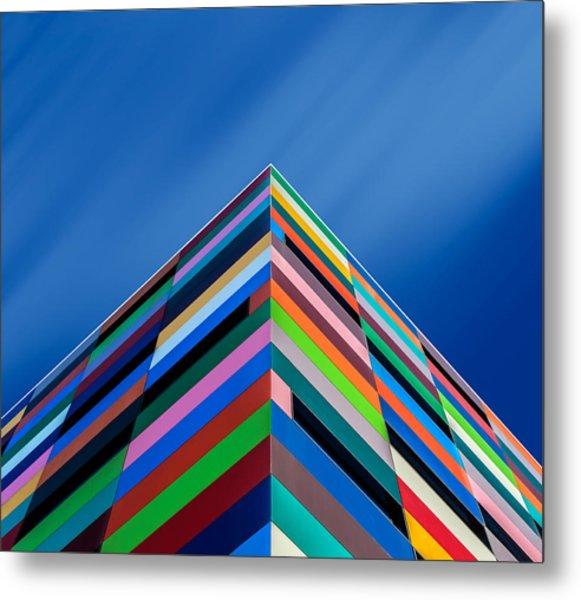 Color Pyramid Metal Print