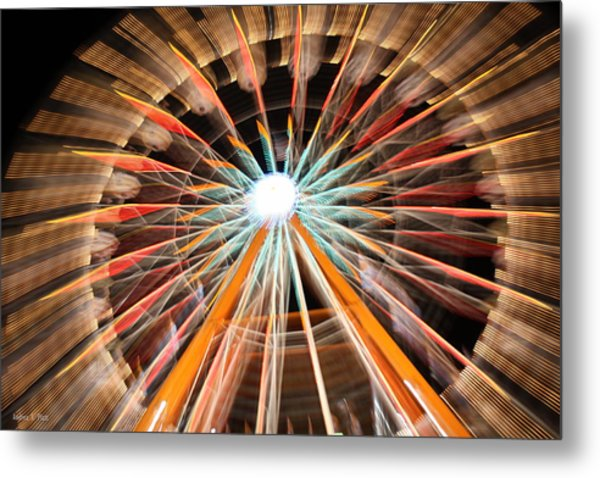 Color Wheel Metal Print