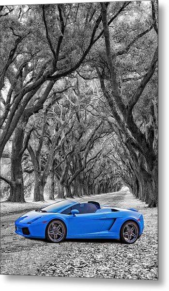 Color Your World - Lamborghini Gallardo Metal Print