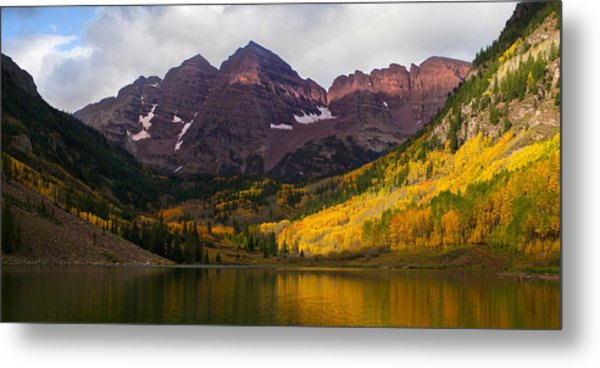 Colorado 14ers The Maroon Bells Metal Print
