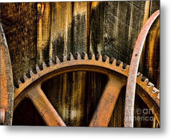 Colorado Mining Gear Metal Print