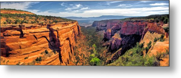 Colorado National Monument Red Canyon Panorama Metal Print