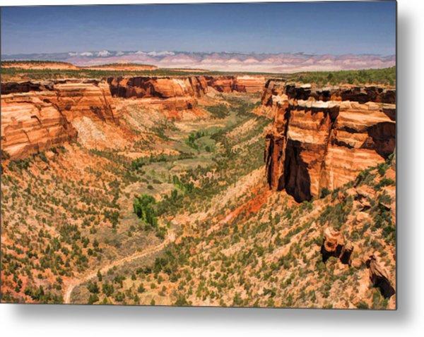 Colorado National Monument Ute Canyon Metal Print