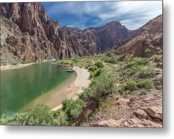 Colorado River In The Grand Canyon Metal Print