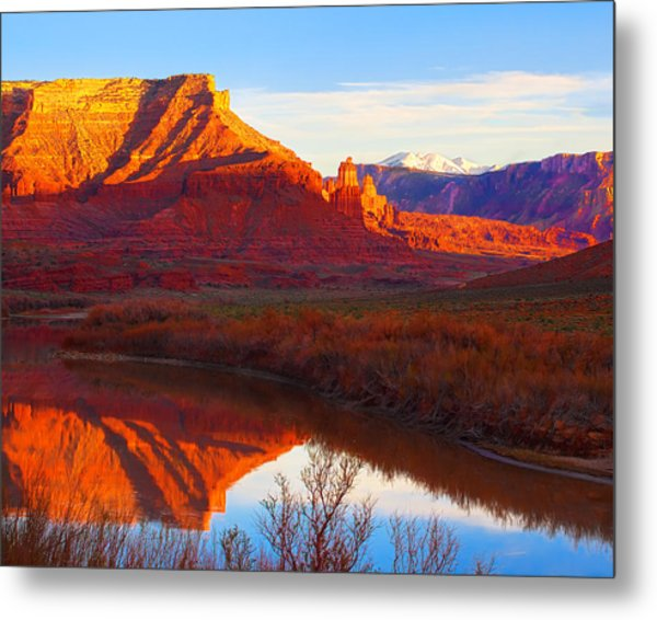 Colorado River Reflections Metal Print