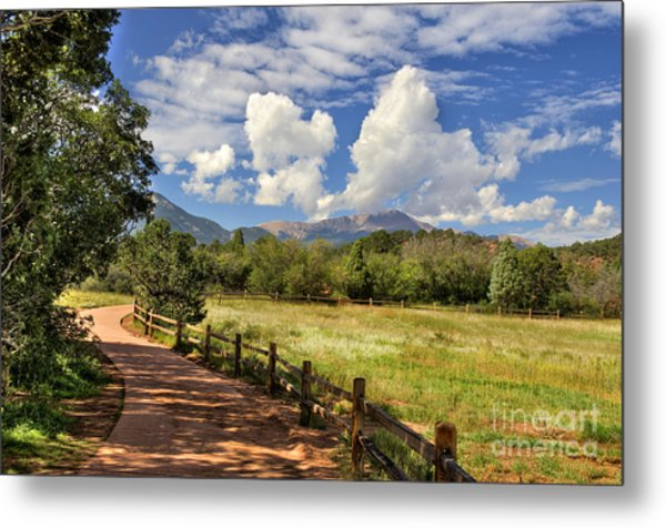 Colorado Scenic Pathway Metal Print