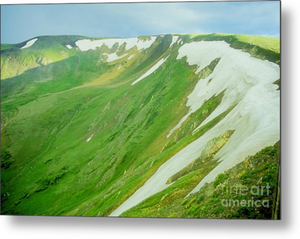 Colorado Snow Vista Metal Print