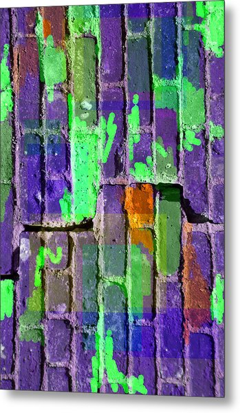 Colored Brick And Mortar 4 Metal Print