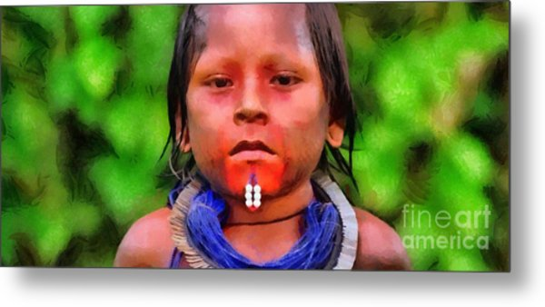 Colored Child Metal Print
