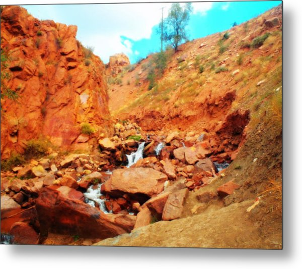 Colored Falls Metal Print