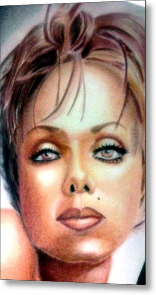 Colored Girl Highlighted  Metal Print