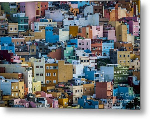 Metal Print featuring the photograph Colored Houses San Juan Las Palmas Spain by Pablo Avanzini