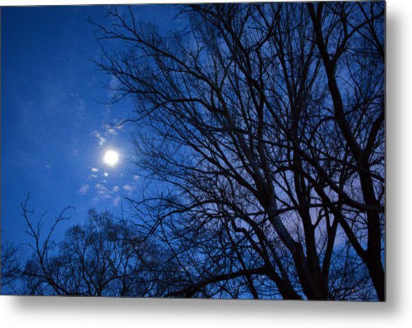 Colored Hues Of A Full Moon Metal Print by Bill Helman