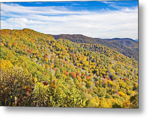 Colored In Smoky Mountains Metal Print