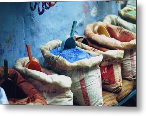 Colored Powders For Textile Dyes On Metal Print by Valeria Schettino