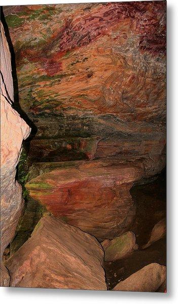 Colored Rock Layers Metal Print