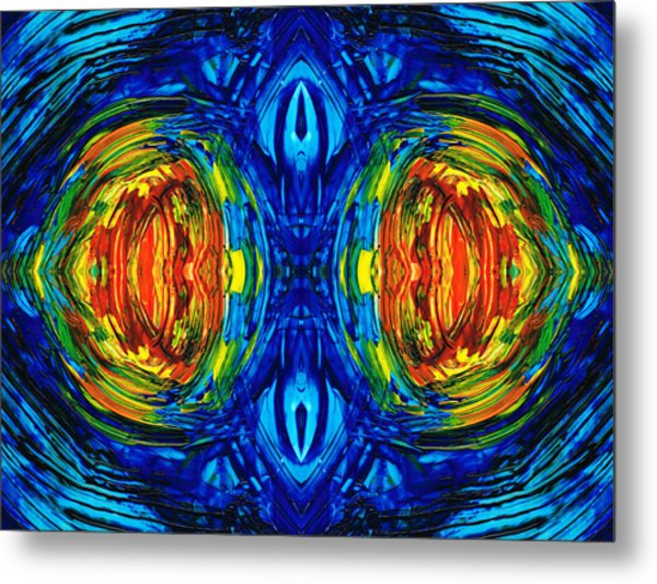 Colorful Abstract Art - Parallels - By Sharon Cummings  Metal Print
