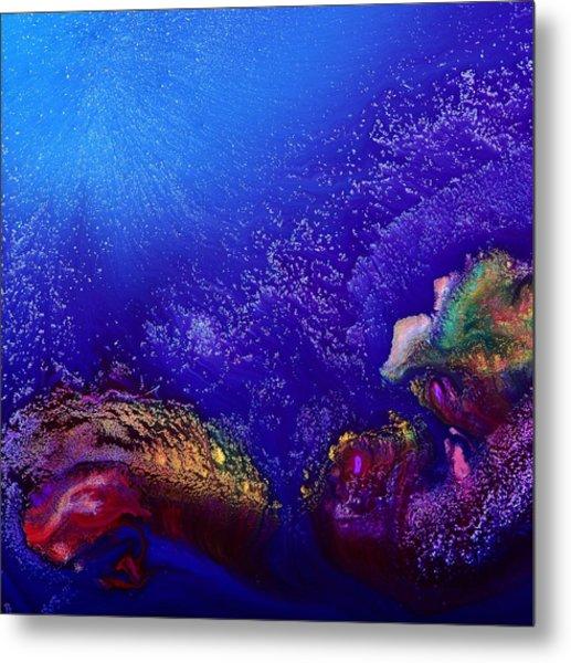 Colorful Abstract Art-vivid Fluid Painting Life Below By Kredart Metal Print