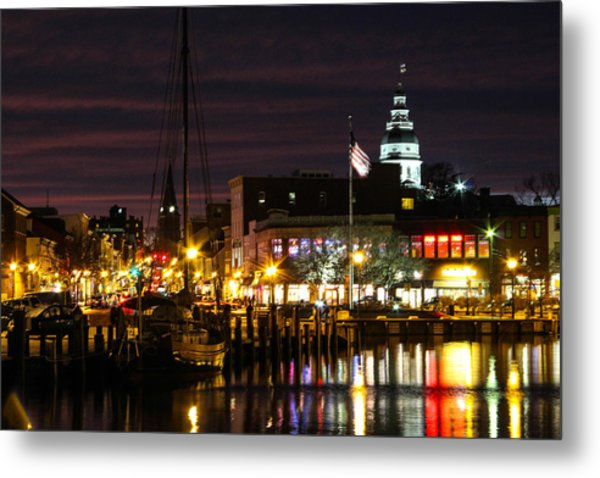 Colorful Annapolis Evening Metal Print