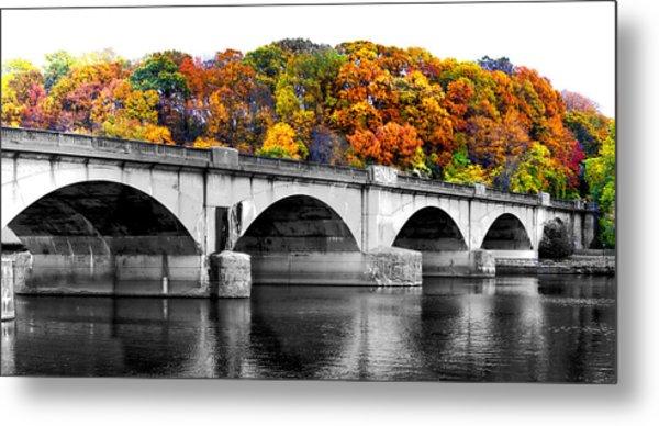 Colorful Bridge Metal Print