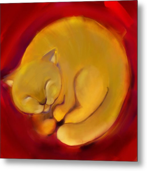 Colorful Cat 1 Metal Print by Anna Gora