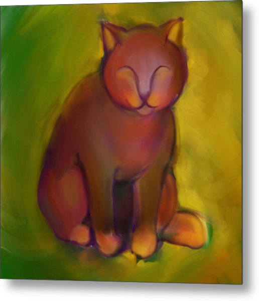 Colorful Cat 2 Metal Print by Anna Gora