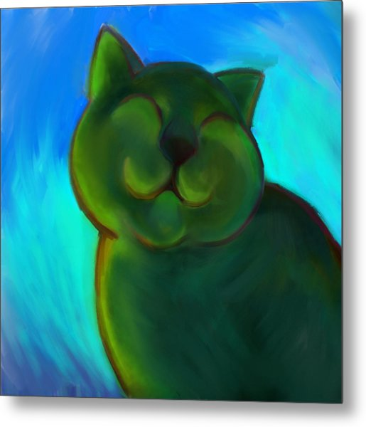 Colorful Cat 4 Metal Print by Anna Gora