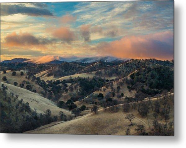 Colorful Clouds At Sunrise Metal Print