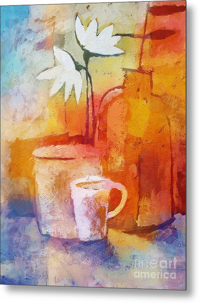 Colorful Coffee Metal Print