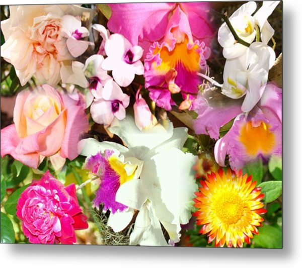 Colorful Collage Metal Print by Van Ness