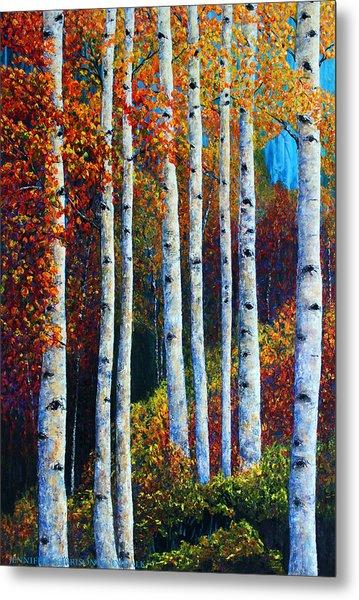 Colorful Colordo Aspens Metal Print