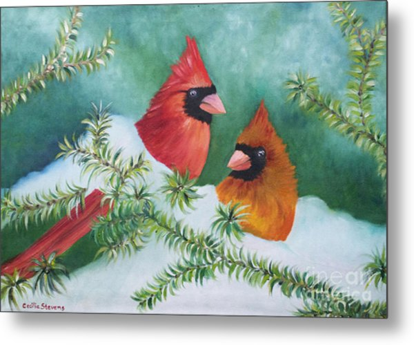 Colorful Companions Metal Print by Cecilia Stevens