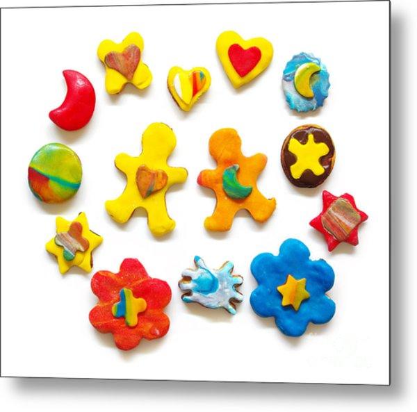 Colorful Cookies Metal Print