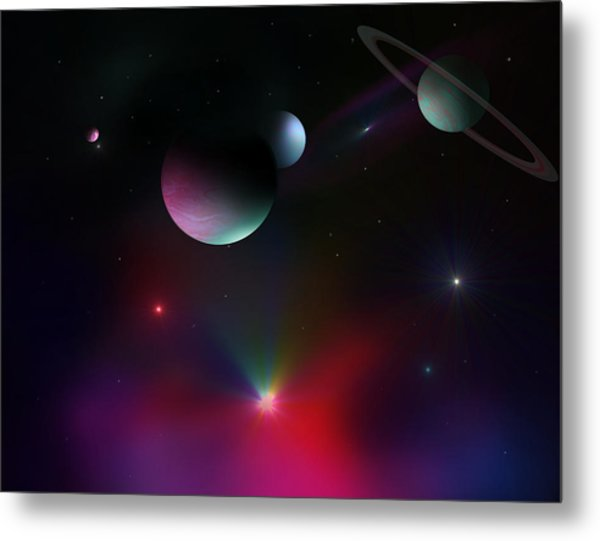 Colorful Cosmos Metal Print by Ricky Haug