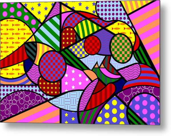 Colorful Couple 1 V-1 Metal Print