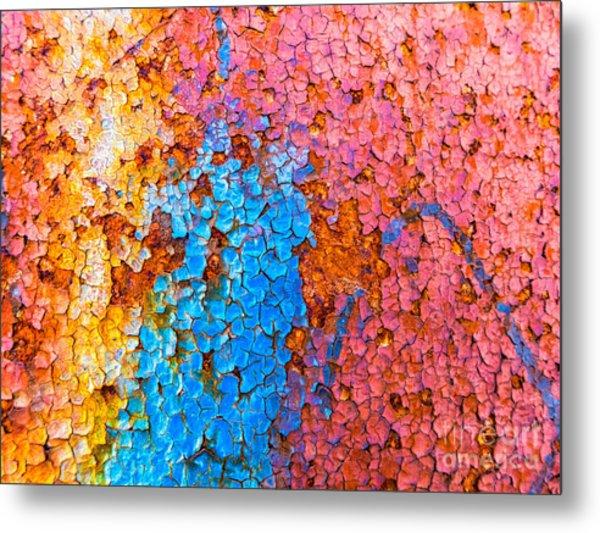 Colorful Cracks Metal Print