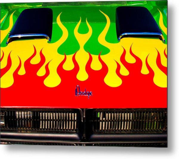 Colorful Dodge Hood Metal Print