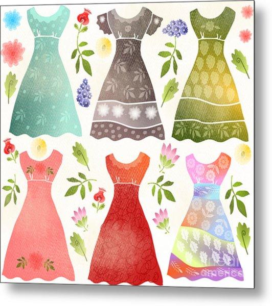 Colorful Dresses Metal Print by Elaine Jackson