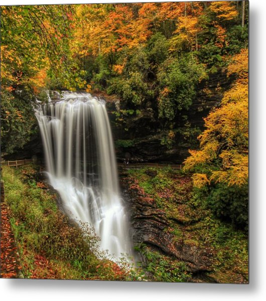 Colorful Dry Falls Metal Print