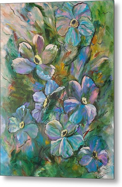 Colorful Floral Metal Print