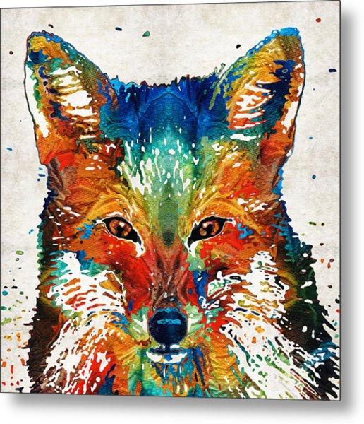 Colorful Fox Art - Foxi - By Sharon Cummings Metal Print